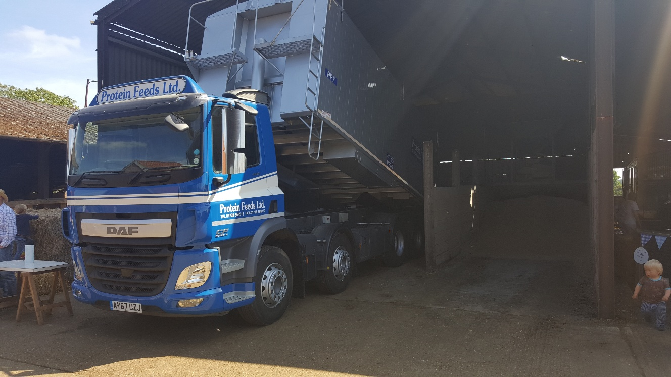 Protein Feeds lorry at Farm Open Day